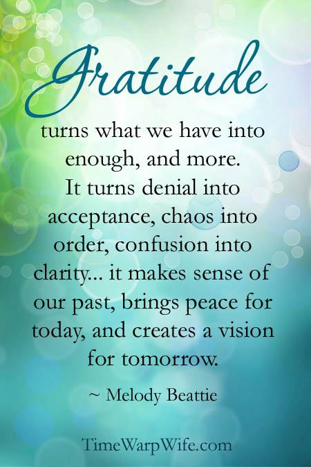Gratitude: Peace for Today and a Vision for Tomorrow